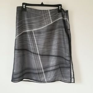 Kenneth Cole Grey Sheer Skirt